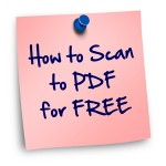 How to Scan to PDF for Free