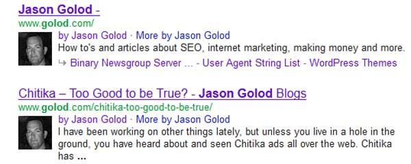 Rich Snippets Author Example