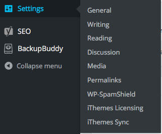 WordPress Discussion Menu